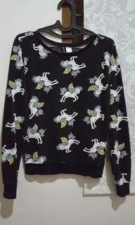 H&M unicorn sweater