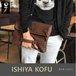 Clutch Bag Slempang Pria Handbag ISHIYA KOFU impor