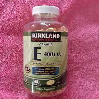 Kirkland vitamin e softgel