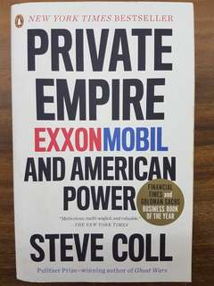 Private Empire Exxonmobil and American Power