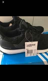 In Stock* Adidas black UltraBoost