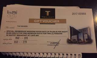 Bai hotel executive suite one bedrooms voucher
