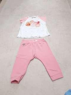 Zara Baby Girl Original Shirt and Pants