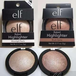 e.l.f. elf Baked Highlighter Moonlight Pearls / Blush Gems