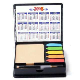 Sticky Notes with Pen and Calendar (2018)