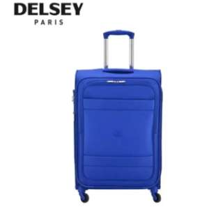 Delsey Indiscrete 69cm 4 Wheel Expandable Trolley Soft Case (Red/Blue)