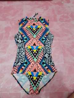 Aztec one piece swimwear