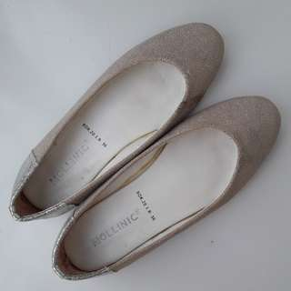 MOLLINIC Silver Flat Shoes