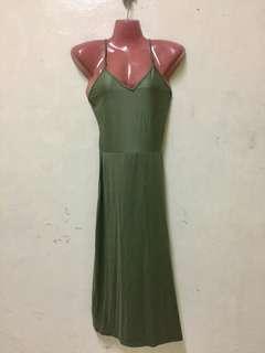 Navy green dress