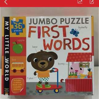 First Words Jumbo Puzzle