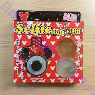 日本 米奇 米妮 自拍燈 補光燈 閃光燈 LED燈 美肌 美顏 廣角 自拍神器 selfie