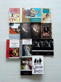 CLEARANCE: A level literature books / classics