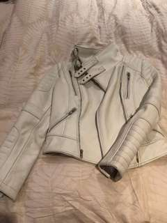 ASILIO jacket LEATHER white 6/XS new with tag still attached