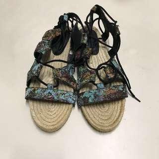 ASOS JORDY Lace Up Espadrille Sandals