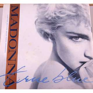 1986 Madonna True Blue (Limited Edition) [Clear Blue Vinyl] Excellent condition Hard to Find Pressing (Made in U.S.A.)
