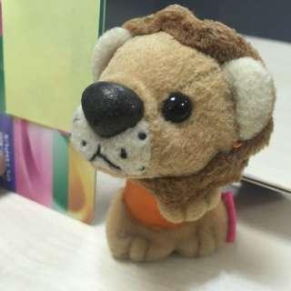 韓國 Everland Safari World 小獅子造型毛公仔匙扣