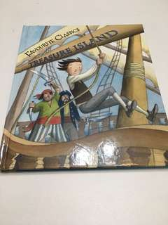Hardcover book - Treasure Island for kids