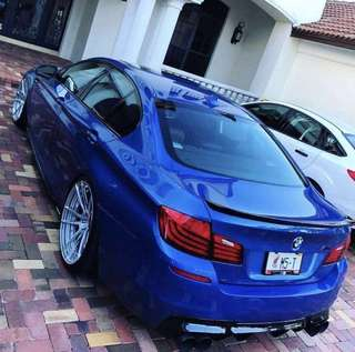 BMW 5 Series F10 M Performance Style Carbon Fiber Spoiler