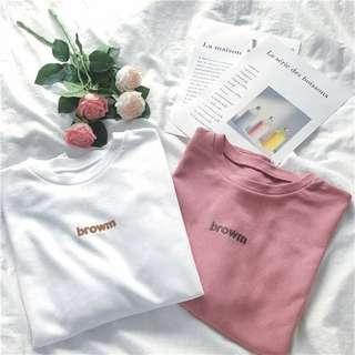 🚚 韓國簡約百搭短袖T恤