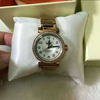 Authentic Coach Ladies Bracelet Watch/Rose Gold/Silver/Gold With Swarovski Crystal Watch