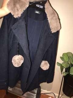 Dotti navy coat
