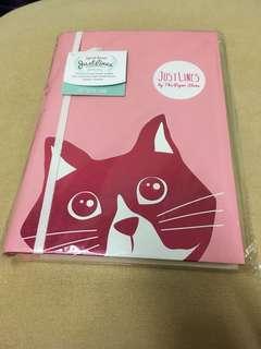 BNIP The Paper Stone pink cat Notebook