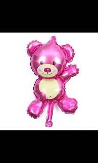 Bear foil balloon pink