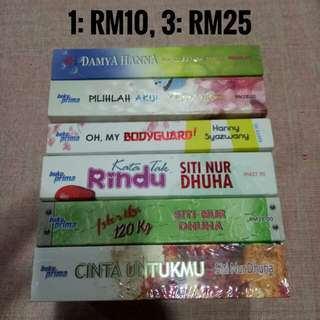 Novel Melayu Preloved Clearance Sale