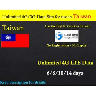 Taiwan sim card with unlimited data