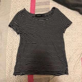 navy stripe t shirt mink pink
