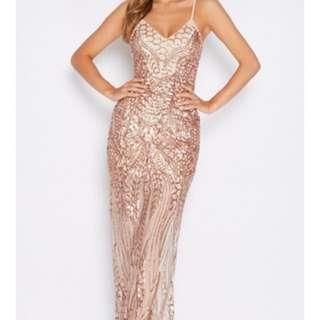 Formal sequin maxi dress