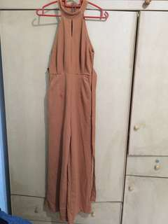 BN without Tag Jumpsuit / long pant / sleeveless / brown