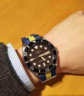 Seiko Submariner Diver SKX 031 with Nato