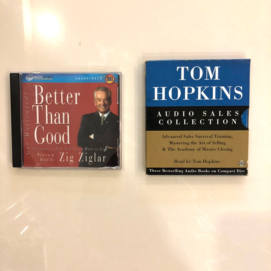 $2 Audio Books Zig Ziglar & Tom Hopkins