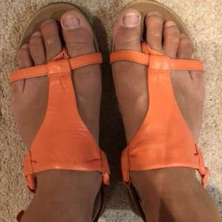 Gino ventori summer orange sandals