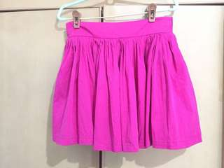 Elastic Pink Short Skirt