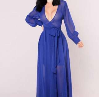 Fashionova blue maxi dress