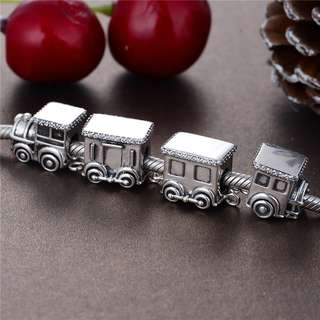 Code MS454, MS455, MS456, MS457 - Train 100% 925 Sterling Silver Charm, Chain Is Not Included, Compatible With Pandora