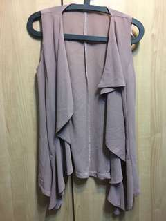 Greyish purple Chiffon Top