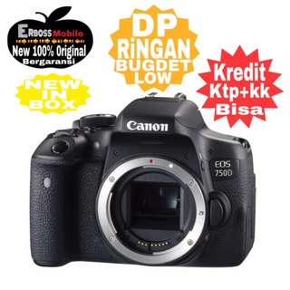 Canon EOS 750D-Body/Wifi Resmi Cash/Kredit Dp 1jt ditoko ktp+kk wa;081905288895
