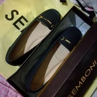 sambonia flat shoes dark blue black