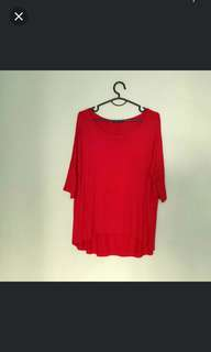 Oversize red top