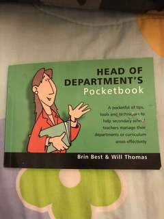 to bless: head of department (hod) pocketbook