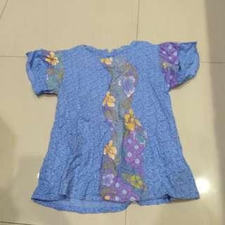 Batik Biru Pastel