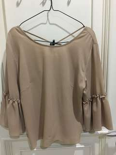 Brown Top Blouse