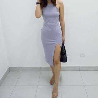 Boohoo slit dress