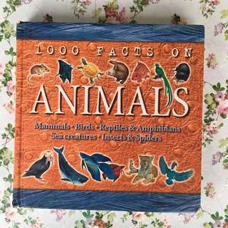 1000 Facts On Animals (Mammals, Birds, Reptiles & Amphibians, Sea Creatures, Insects & Spiders) <Hard Cover - 224 pages>