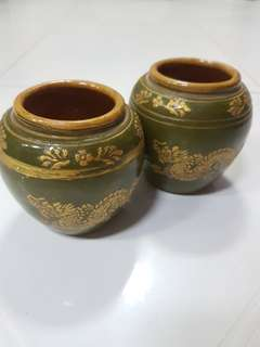 2 x Small Pot