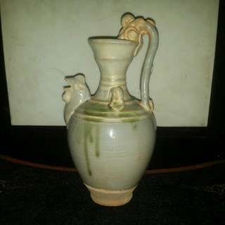 宋雞首螭龍耳水瓶