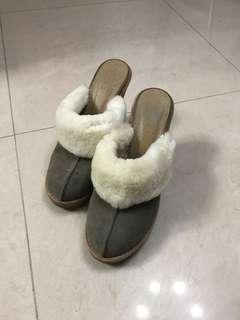 Plata Khaki/Forest Green Heels